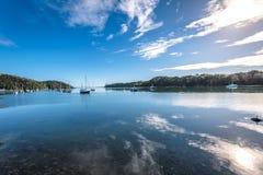 Mangonui,新西兰港口  库存图片