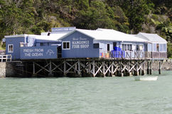 Mangonui fish and chips shop - New Zealand Stock Photo