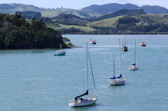 Mangonui harbor in Northland New Zealand Stock Photos