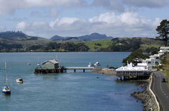 Mangonui harbor in Northland New Zealand Royalty Free Stock Image