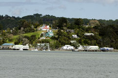 Mangonui village in Northland New Zealand Royalty Free Stock Image