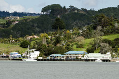 Mangonui village in Northland New Zealand Royalty Free Stock Photo