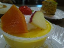 Mangopudding royaltyfri fotografi