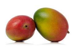 Mangos. Two colorful mangos isolated over white background Stock Photo