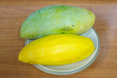 Mangos auf Teller Lizenzfreies Stockfoto