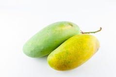 Mangos lokalisiert auf einem weißen Hintergrund Stockfotos
