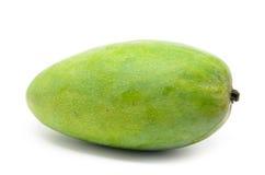 Mangos verdes aislados en el fondo blanco Imágenes de archivo libres de regalías