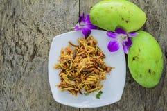 Mangosalat von der Draufsicht Lizenzfreie Stockbilder