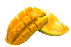 Mangoscheiben lokalisiert auf weißem Hintergrund Lizenzfreie Stockfotografie