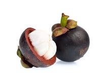 Mangostán aislado en el fondo blanco Imagen de archivo libre de regalías