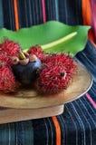 Mangostán con el rambutan Fotografía de archivo