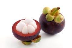 Mangostán en el fondo blanco Fotografía de archivo