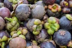 Mangostán en mercado tailandés Fotografía de archivo libre de regalías