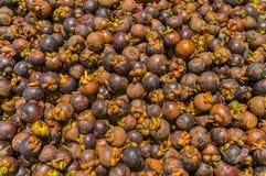 Mangostán en supermercado Imagen de archivo