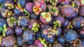 Mangostán o reina del fondo de las frutas/de la textura Foto de archivo