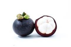 Mangostan de koningin van Thais tropisch fruit Stock Afbeeldingen