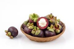 Mangostan (Garcinia-mangostana Linn.) Koningin van Vruchten Royalty-vrije Stock Fotografie