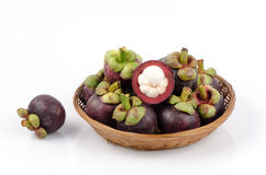 Mangostan (garcyni mangostana Linn.) Królowa owoc Fotografia Royalty Free
