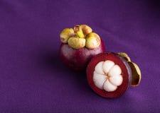 Mangostan, królowa owoc Zdjęcie Stock