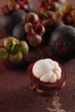 Mangostanfrüchte stockfoto