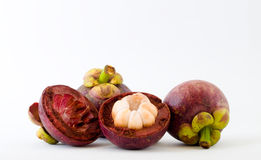 Mangostanfrüchte Lizenzfreie Stockbilder