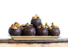 Mangostanfrüchte Stockfotografie