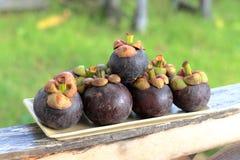 Mangostanfrüchte Lizenzfreie Stockfotos