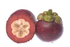 Mangostanfrüchte getrennt Lizenzfreie Stockfotos