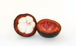 Mangostanfrucht auf weißem Hintergrund Lizenzfreies Stockbild