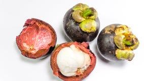 Mangostanfrucht/Mangustan Stockbild