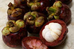 Mangostanfruchtfrucht Stockbilder