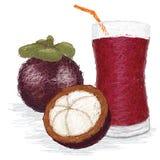 MangostanfruchtFruchtsaft Lizenzfreie Stockfotos