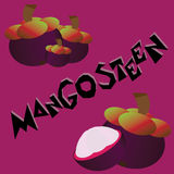 Mangosteen ταπετσαρία Στοκ Φωτογραφία