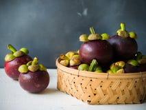 Mangosteen φρούτα Στοκ Εικόνα
