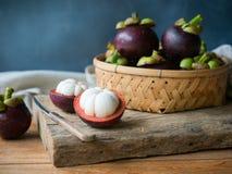 Mangosteen φρούτα Στοκ Εικόνες