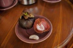 Mangosteen - delicious sweet exotic fruit Stock Photo