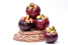 Mangosteen. Fruit with a bright white background Royalty Free Stock Photo