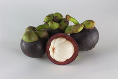 Mangosteen fruit fresh objects isolated Royalty Free Stock Image