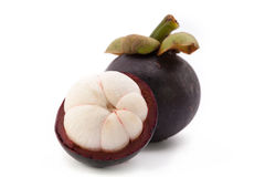 Mangosteen fruit. Isolate on white background Royalty Free Stock Images