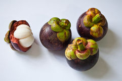 Mangosteen fruit on isolated Royalty Free Stock Photo
