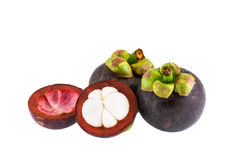 Mangosteen fruits Royalty Free Stock Photos