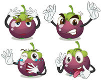 Mangosteen fruits. On a white background royalty free illustration