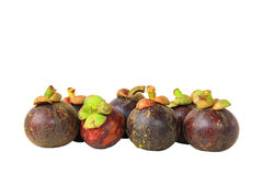 Mangosteen group isolate Royalty Free Stock Photo