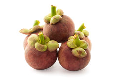 Mangosteen isolate on white background Royalty Free Stock Images