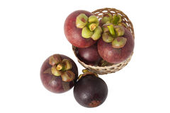 Mangosteen isolate on white background Stock Images