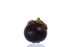 Mangosteen. Isolated on white background royalty free stock photography