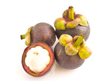 Mangosteen isolated on white background Royalty Free Stock Photography