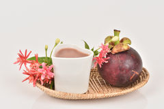 Mangosteen Juice. Stock Photos