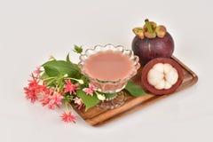 Mangosteen Juice. Royalty Free Stock Photos