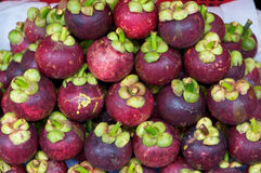 Mangosteen in market Stock Image